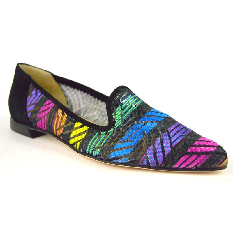 Brunate Pantofola Multi Nero + multicolore Fondo cuoio