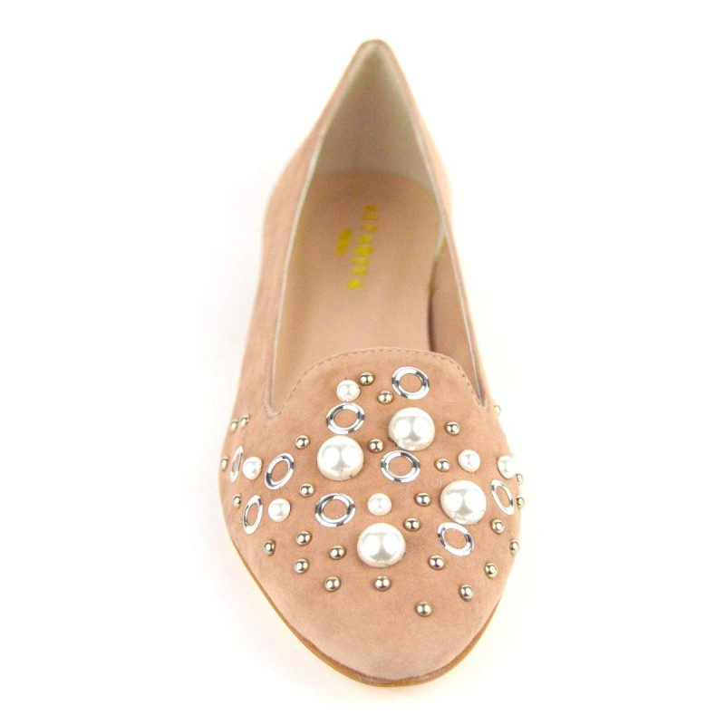 Altariva Pantofola Perle Cipria Fondo cuoio