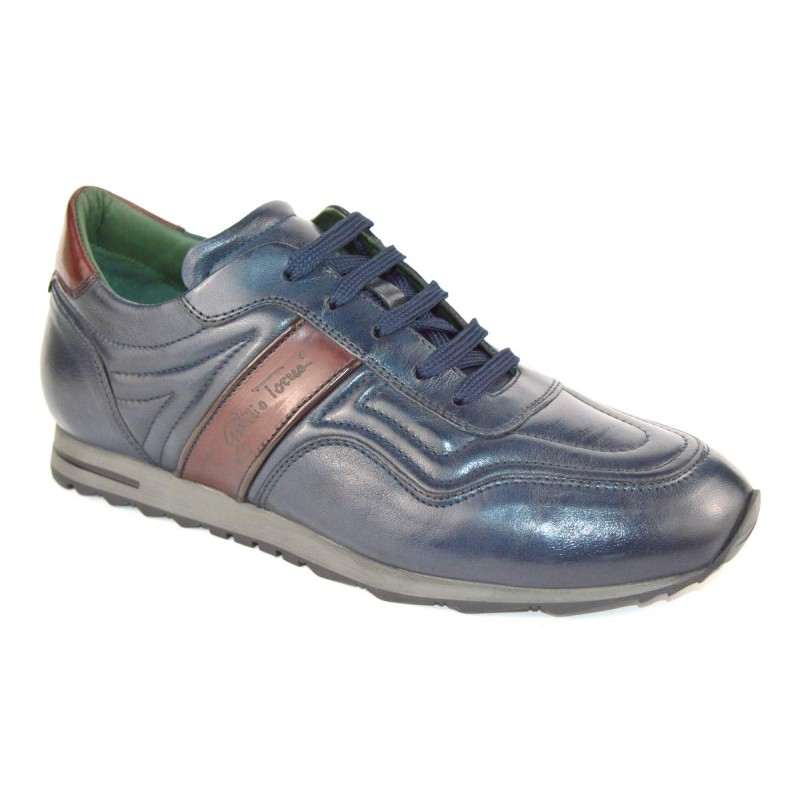 Galizio torresi Sneakers Blu + bordo' Fondo gomma