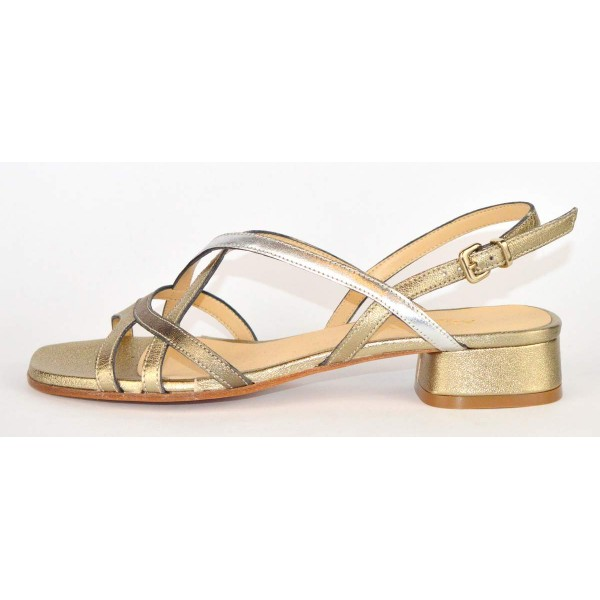 Altariva Sandali Multicolore Oro+argento+bronzo Fondo cuoio
