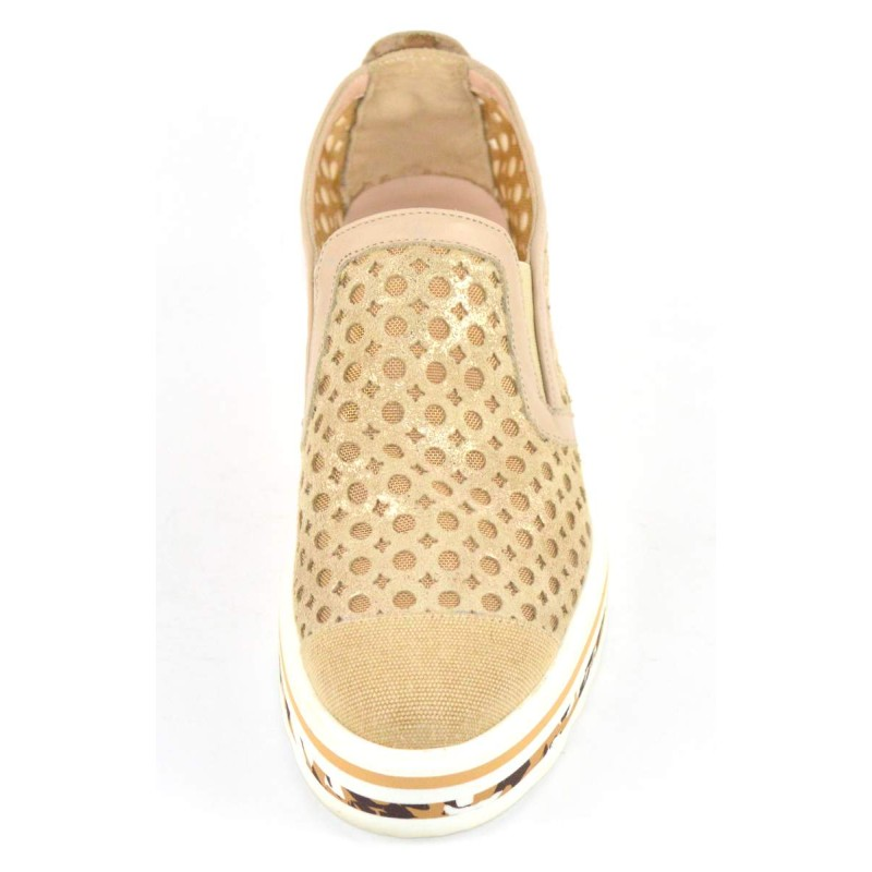 Altariva Pantofola Forata Oro Fondo gomma