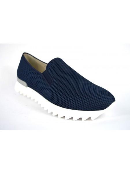 181 Loafers Rete Blu Fondo gomma
