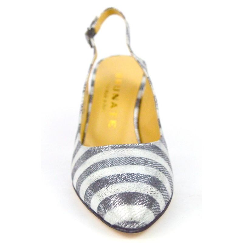 Brunate Chanel Righe Beige + argento Fondo cuoio