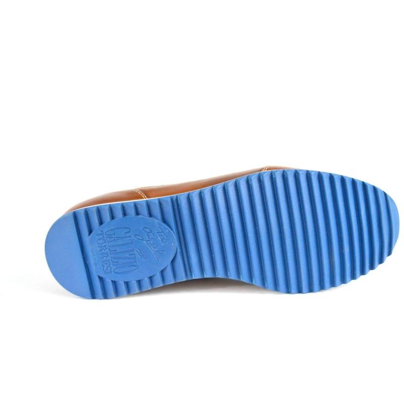 Galizio torresi Sneakers Forata Blu + cuoio Fondo gomma