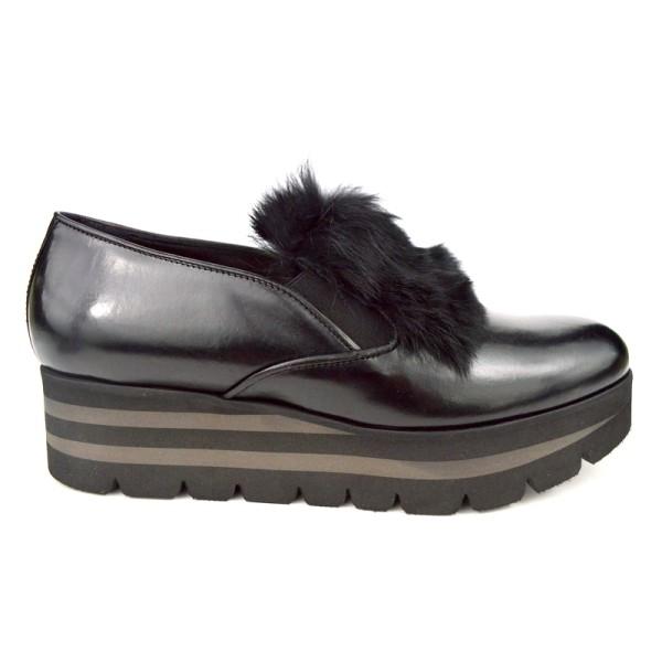 Altariva Pantofola Lapin Nero Fondo gomma