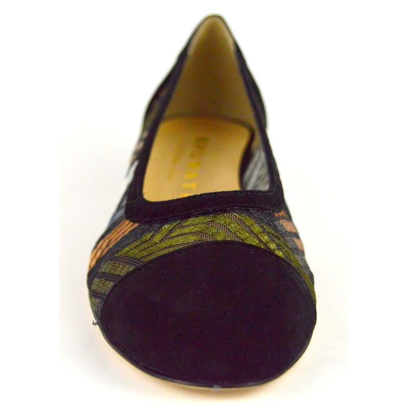 Brunate Decolte Puntale Multicolore Nero+bronzo+arg Fondo cuoio