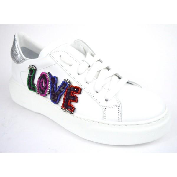 Stokton Sneakers Love Bianco Fondo gomma