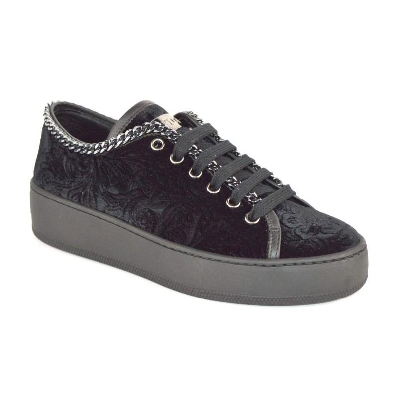 Stokton Sneakers Catena Nero Fondo gomma
