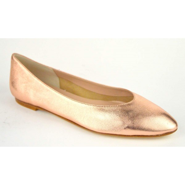 Altariva Ballerina Liscia Lame' Rame Fondo cuoio