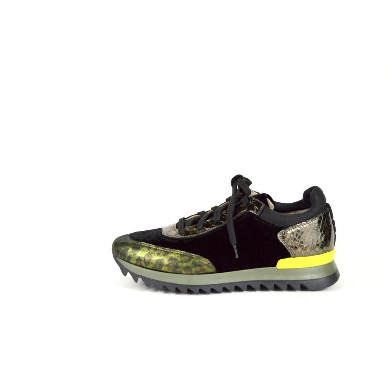 181 Sneakers Nero Fondo gomma