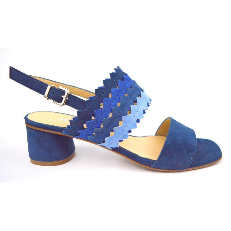 Legazzelle Sandali Blu Fondo cuoio