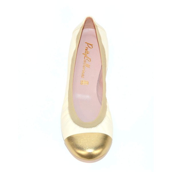 Prettyballerinas Ballerina Puntale Beige Fondo gomma