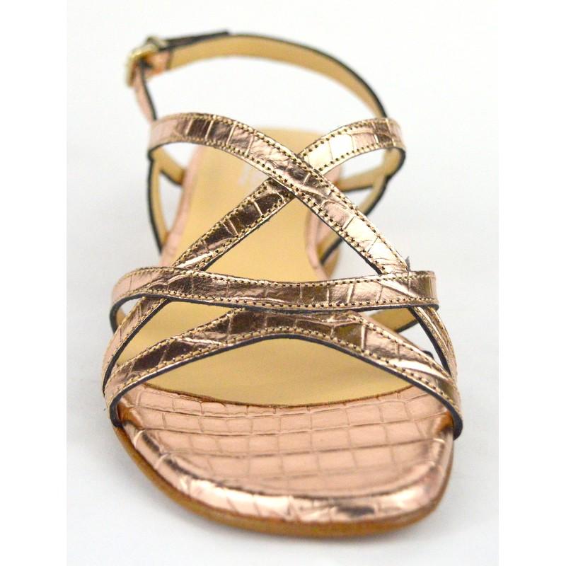 Altariva Sandali Oro Fondo cuoio