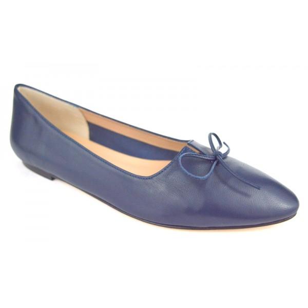 Altariva Pantofola Fiocco Blu Fondo cuoio