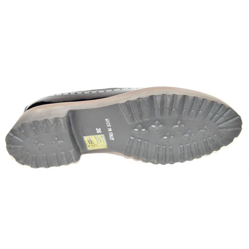 Altariva Pantofola Wilson Fiorata Nero Fondo gomma