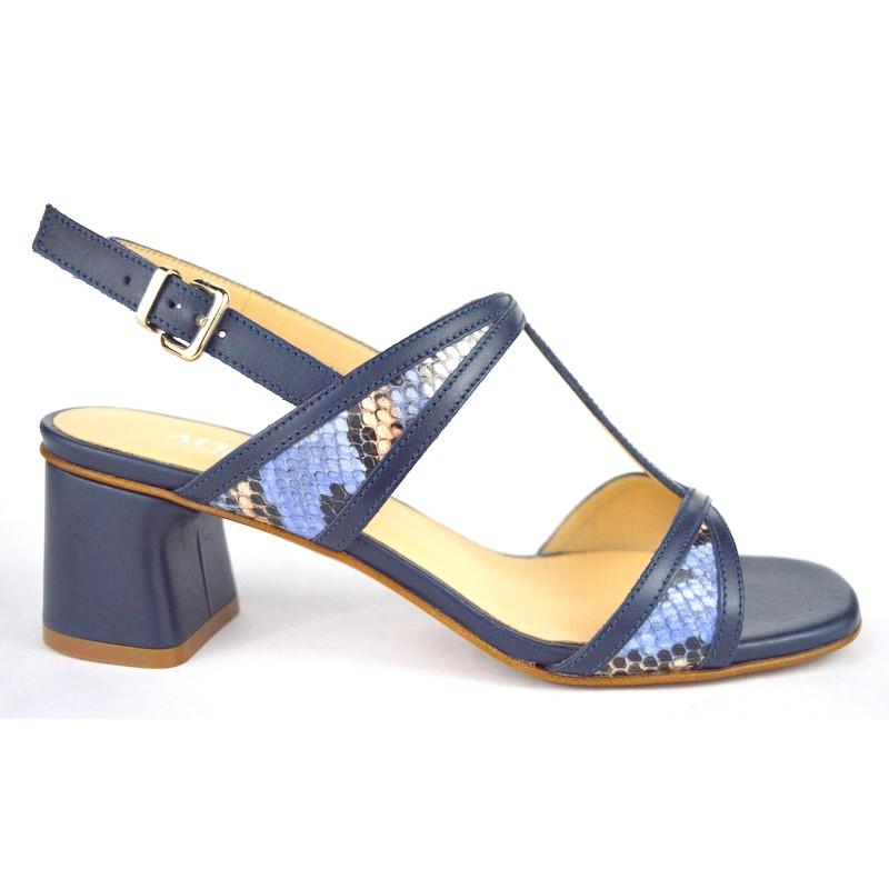 Altariva Sandali T Blu Fondo cuoio