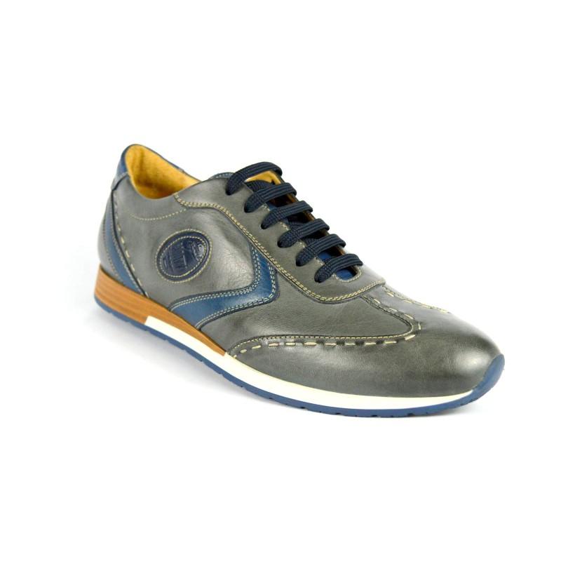 Galizio torresi Sneakers Grigio + blu Fondo gomma