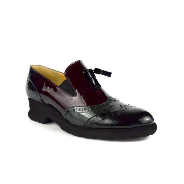 Brunate Pantofola Wilson Nappine Nero+grigio+bordo' Fondo gomma