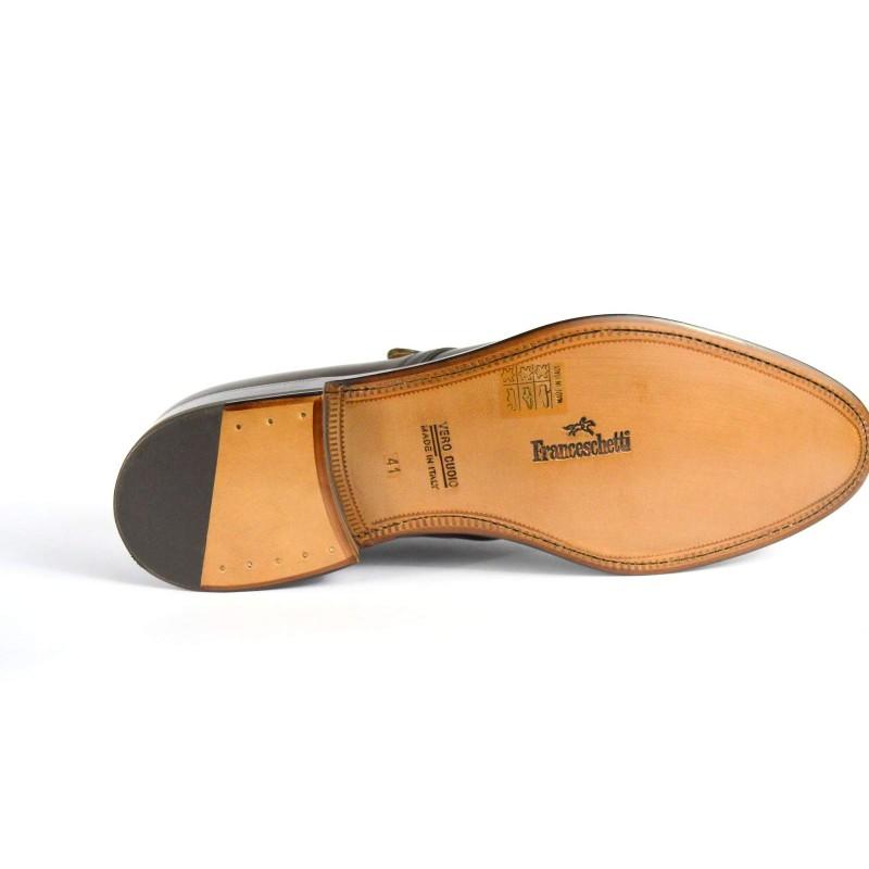 Franceschetti Pantofola Fibbia Testa di moro