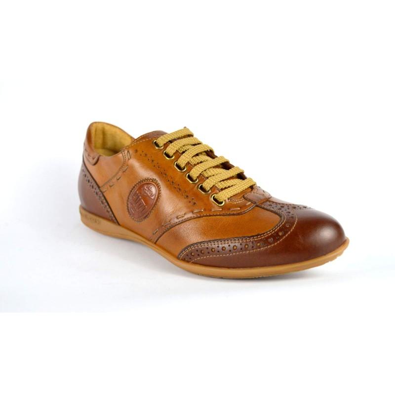 Galizio torresi Sneakers Cuoio + marrone Fondo gomma