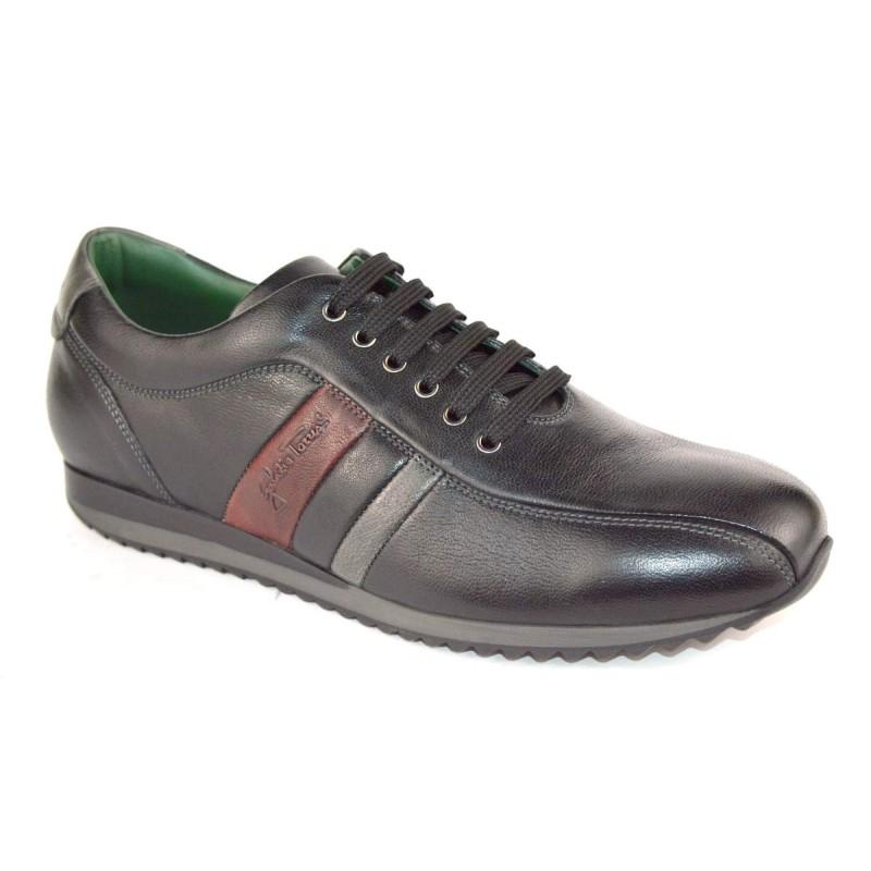 Galizio torresi Sneakers 3 righe Nero Fondo gomma