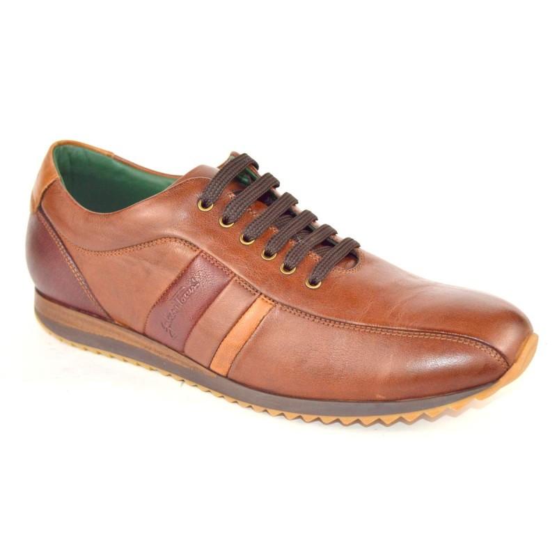Galizio torresi Sneakers 3 righe Marrone Fondo gomma