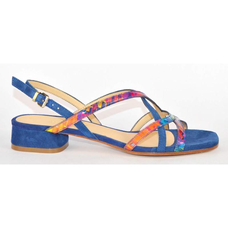 Altariva Sandali Multicolore Blu Fondo cuoio