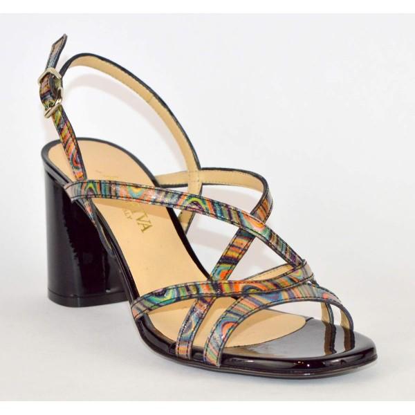 Altariva Sandali Multicolore Nero Fondo cuoio