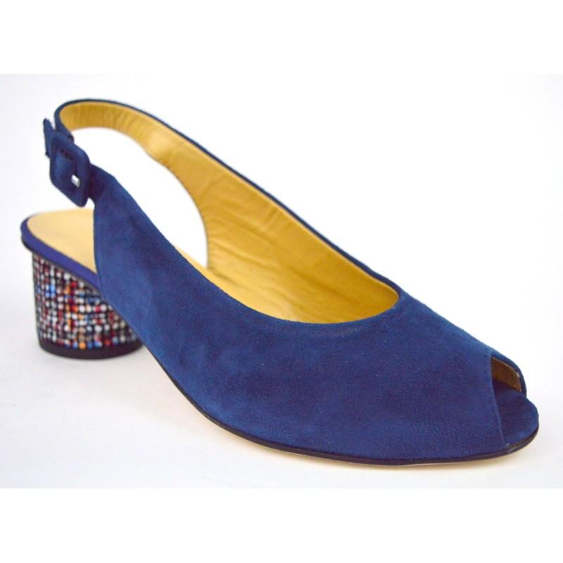 Brunate Sandali Blu Fondo cuoio
