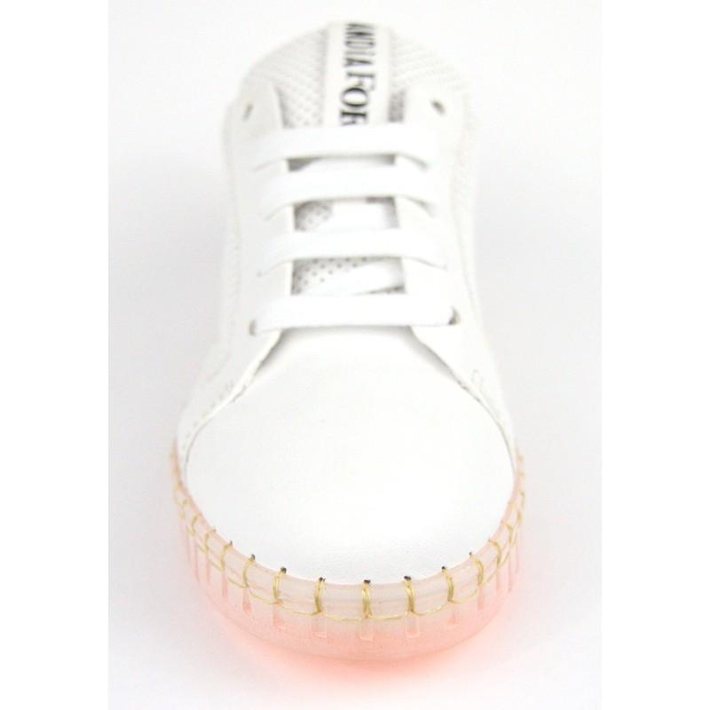 Andia fora Sneakers Traforata Bianco Fondo gomma