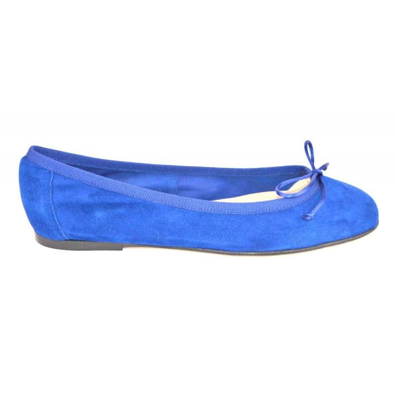 Altariva Ballerina Blu Fondo cuoio