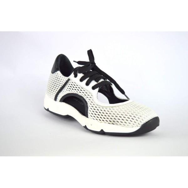 Makris Sneakers Aperta lati Bianco Fondo gomma