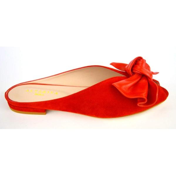 Altariva Pianella Fiocco Rosso Fondo cuoio