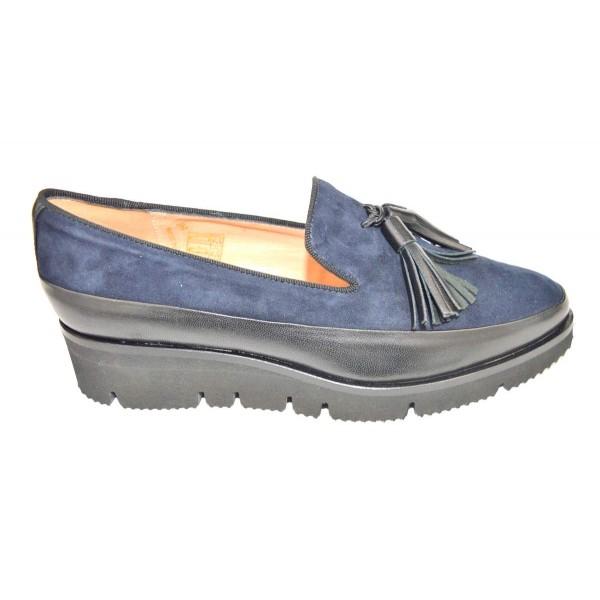 Altariva Pantofola Nappine Nero Fondo gomma