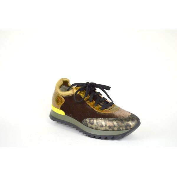181 Sneakers Marrone + bronzo Fondo gomma