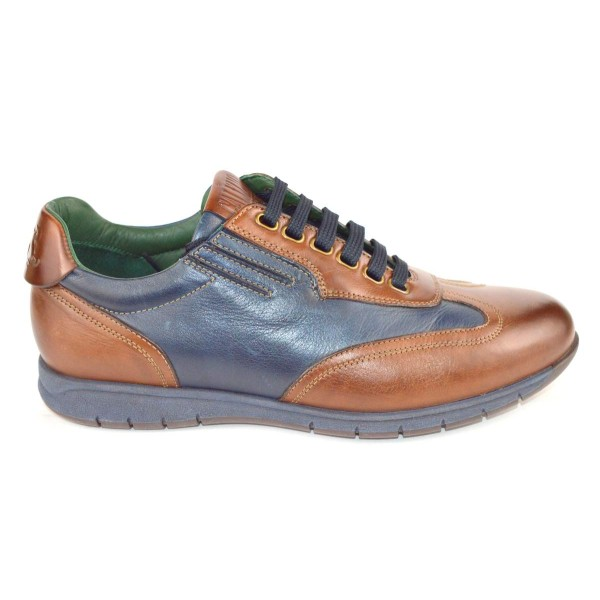 Galizio torresi Sneakers Blu + marrone Fondo gomma