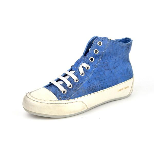 Candice cooper Sneakers Scarponcino Zip .lato Blu chiaro Fondo gomma