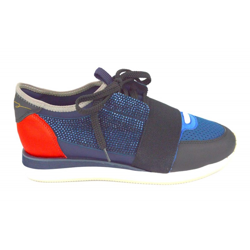 Lola cruz Sneakers Blu Fondo gomma