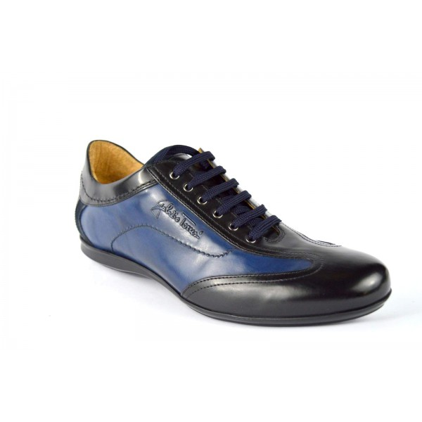 Galizio torresi Sneakers Blu + nero Fondo gomma