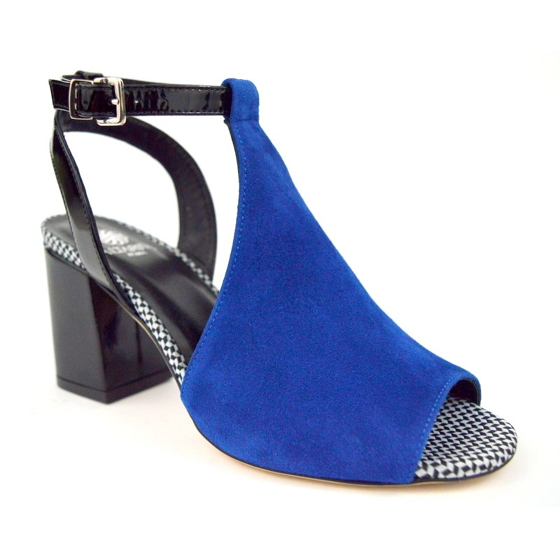 Altariva Sandalo Posteriore Tallone Blu+nero C1
