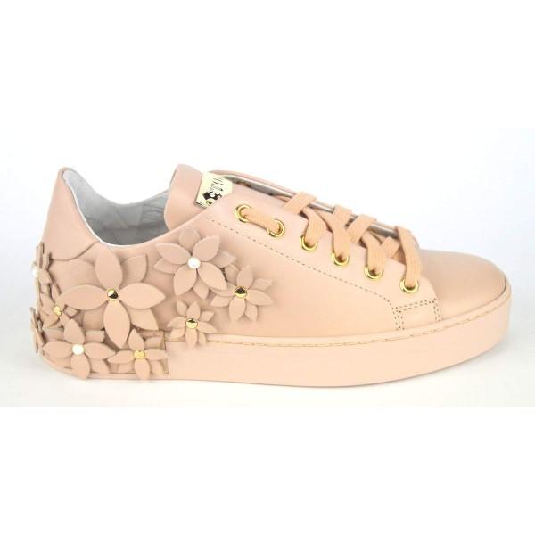 Stokton Sneakers Fiori Cipria Fondo gomma
