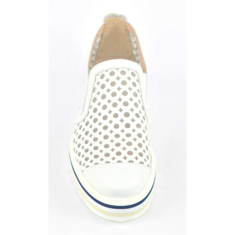 Altariva Pantofola Forata Bianco Fondo gomma