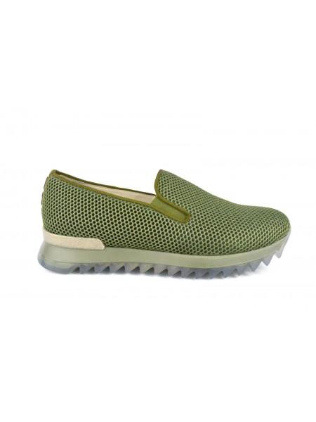 181 Loafers Rete Verde Fondo gomma