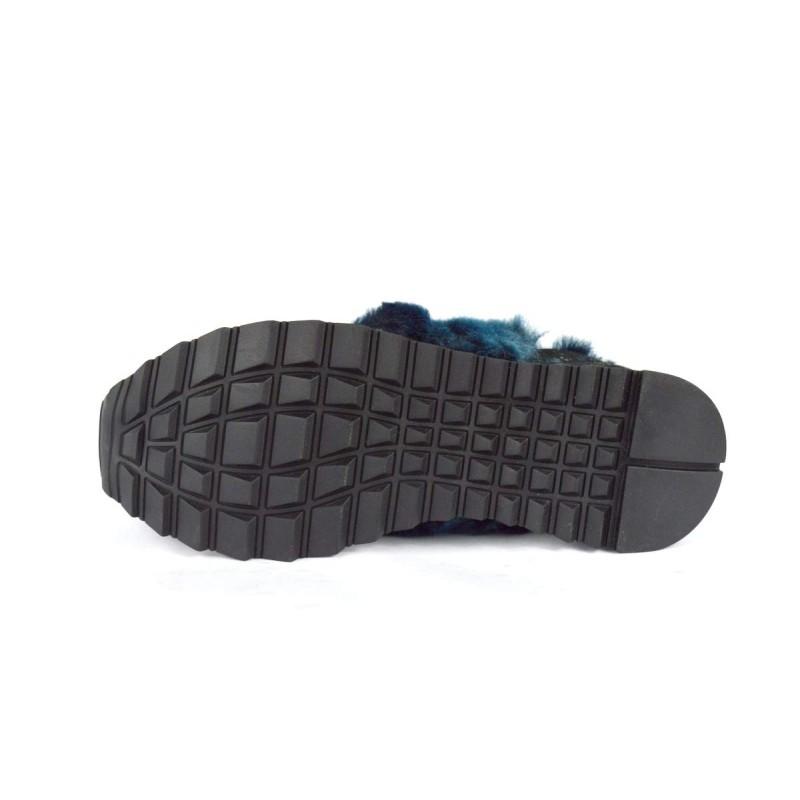 Stokton Sneakers Pelo Blu + bronzo Fondo gomma