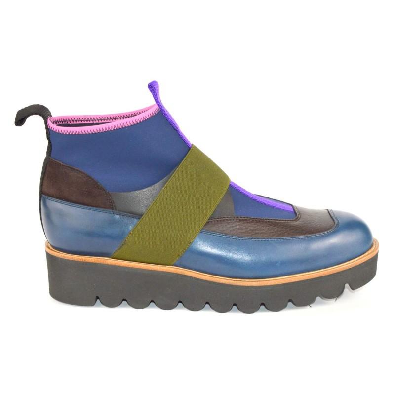Truman's Sneakers Mid Mezzo stivaletto Blu Fondo gomma