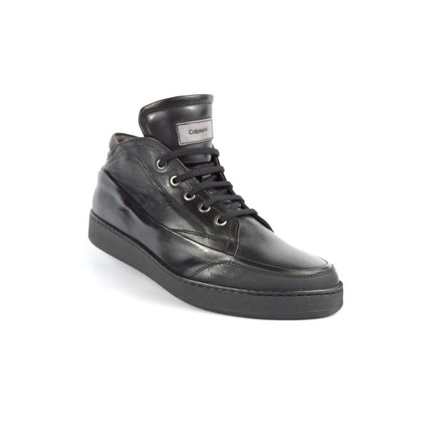 Calpierre Sneakers Alto Nero Fondo gomma
