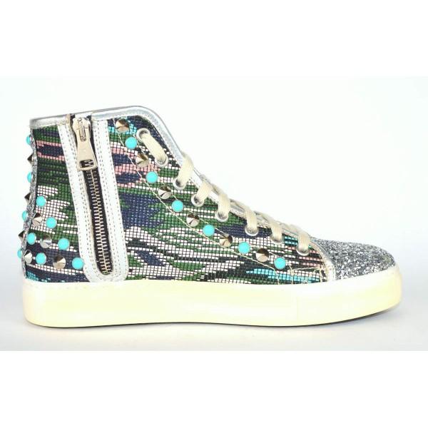 Stokton Sneakers Multicolore Glitter Multicolore Fondo gomma