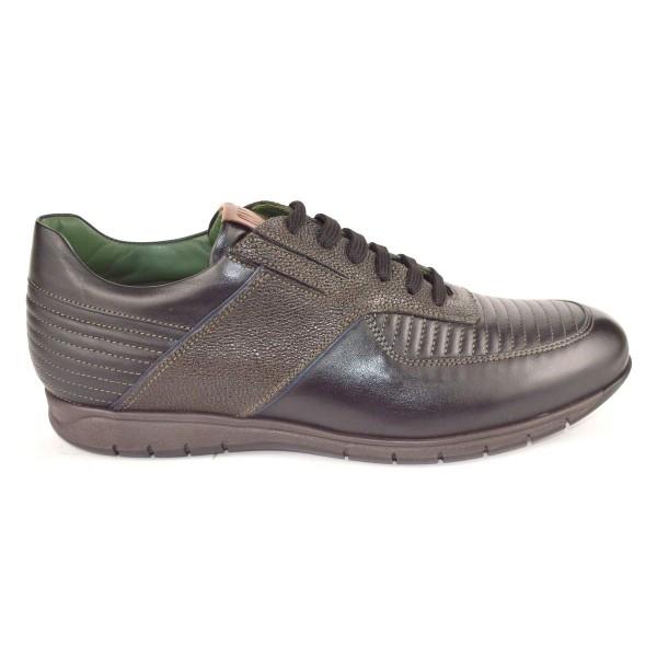 Galizio torresi Sneakers Righe Moca Nero Fondo gomma