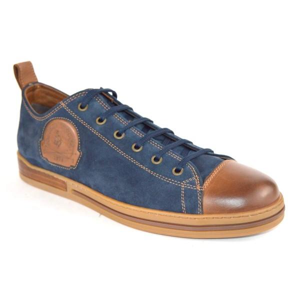 Galizio torresi Sneakers Convers Blu + cuoio Fondo gomma