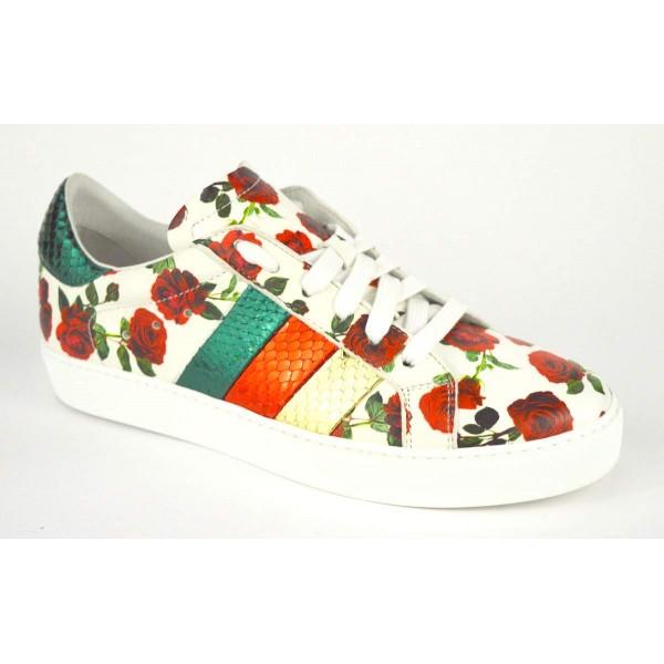 Stokton Sneakers Rose Bianco + rosso Fondo gomma